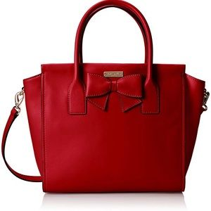 Kate Spade Hanover Charee Red Bow Purse